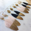 Gold-Dipped Feather Tips Earrings