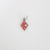 Red Kappa Floating Diamond Charm