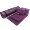 Yoga Practice Set with 6-Piece Kit including Exercise Mat Blocks Towels and Strap