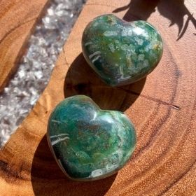 Heart Shaped Bloodstone Crystals
