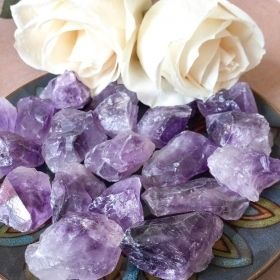 Raw Amethyst Gemstone Crystals
