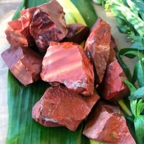 Raw Red Jasper Gemstone Crystals