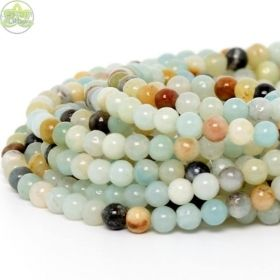 Smooth Round Amazonite • Natural Crystal Gemstone Beads • Variety of Wholesale Sizes • 4mm 6mm 8mm 10mm 12mm • 15.5'' Strands