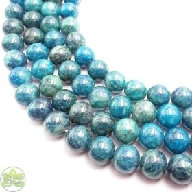 Smooth Round Apatite Beads • Natural Crystal Gemstone Beads • Green Blue Variety Wholesale Sizes • 4mm 6mm 8mm 10mm 12mm • 15.5'' Strands