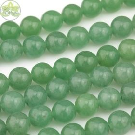 Smooth Round Aventurine Beads • Natural Crystal Gemstone Beads • Green Variety Wholesale Sizes • 4mm 6mm 8mm 10mm 12mm • 15.5'' Strands