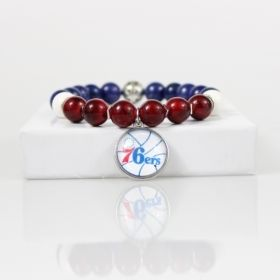 Philadelphia 76ers Bead Bracelet • 76ers Charm Bracelet Jewelry • Seventy-Sixers Basketball Bracelet • Onassis Krown Signature Collection