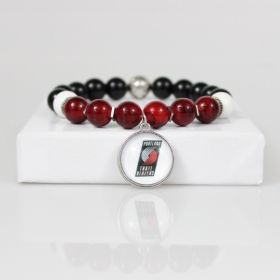 Portland Trailblazers Bead Bracelet • Trailblazers Bracelet Jewelry • Portland OR Basketball Bracelet • Onassis Krown Signature Collection
