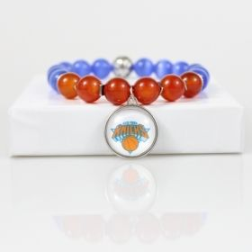 New York Knicks Bead Bracelet • Knicks Charm Bracelet Jewelry Gift • New York Basketball Bracelet • Onassis Krown Signature Collection