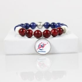 Washington Wizards Bead Bracelet • Wizards Charm Bracelet Jewelry • Washington DC Basketball Bracelet • Onassis Krown Signature Collection