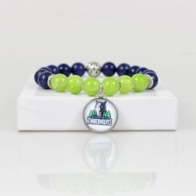 Minnesota Timberwolves Bead Bracelet • Timberwolves Bracelet Jewelry • Minnesota Basketball Bracelet • Onassis Krown Signature Collection