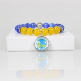 Golden State Warriors Bead Bracelet • Warriors Bracelet Jewelry • San Francisco CA Basketball Bracelet • Onassis Krown Signature Collection