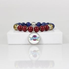 Cleveland Cavaliers Bead Bracelet • Cavaliers Bracelet Jewelry Gift • Cleveland OH Basketball Bracelet • Onassis Krown Signature Collection