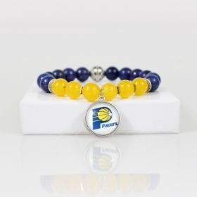 Indiana Pacers Bead Bracelet • Pacers Charm Bracelet Jewelry Gift • Indianapolis IN Basketball Bracelet • Onassis Krown Signature Collection