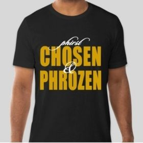Phirst Chosen & Phrozen T-Shirt • Black and Gold TShirt • Phrat Shirt • 06 Shirt • Divine Nine Paraphernalia • HBCU Greek Organization