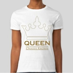 Queen T-Shirt • Queen with a Crown Shirt • Only a King Will Do T-Shirt • Royalty Clothing Fashion Design • Hip-Hop Tees • Kings & Queens Inc