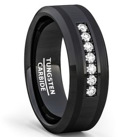 Ebony Black Seven Cubic Zirconia Ring