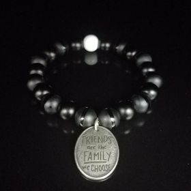 Groomsmen Gift Idea Bracelets in Classic Tuxedo Black & White