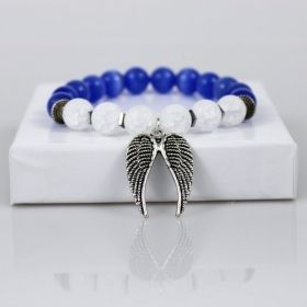 Guardian Angel Wings on White Clouds & Blue Sky Bracelet