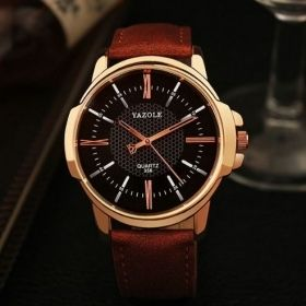 Men's Rose Gold Quartz Watch