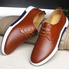 Men's British Style Breathable Flat Loafer Oxford Shoe Sneakers