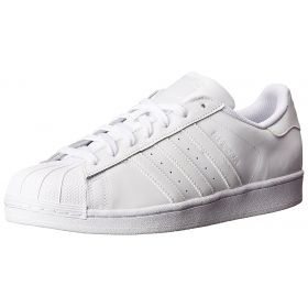 Men's All White Shell Toe Adidas Originals Superstar Foundation Shoes