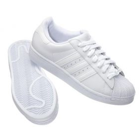 Women's All White Shell Toe Adidas Originals Superstar Foundation Shoes