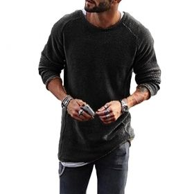 Men's Knitted Style Long-Sleeved O-Neck Sweater Shirt