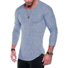 Men's Scoop Style Slim Fit Long Sleeve T-Shirt