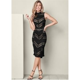 Women's Black Lace Detail Dress