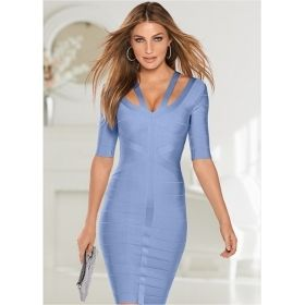 Women's Strappy Ribbed Slimming Dress