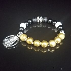 Alpha Phi Alpha Black & Old Gold Bracelet