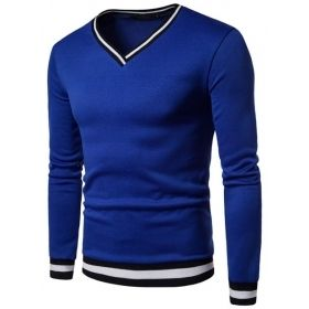 Men's Long Sleeve Slim Reinforced V-Neck Shirt