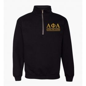 Alpha Phi Alpha Embroidered Quarter-Zip Sweatshirt