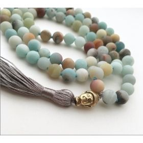 Amazonite Mala in Aquamarine & Teal