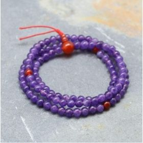 Purple Amethyst & Orange Carnelian Mala