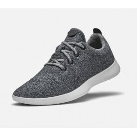 Gray & White Men's Eco-Friendly Wool Runners