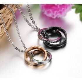 Matching Couples Ring Pendant Necklaces