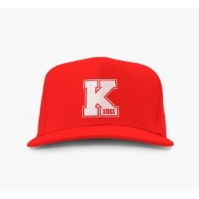 Red Kappa Alpha Psi Embroidered Varsity Snap Back Hat