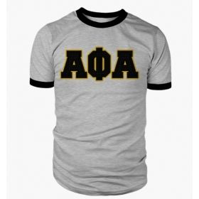Alpha Phi Alpha Greek Letter Heather Ringer Tee