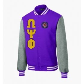 Omega Psi Phi Varsity Greek Fleece Jacket