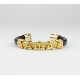 Alpha Phi Alpha Greek Lettered Leather Bracelet