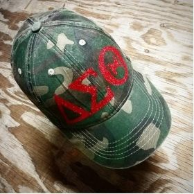 Delta Sigma Theta Ball Cap/Hat in Camouflage
