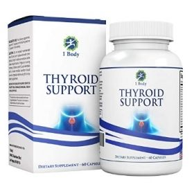 Complete Thyroid Support Supplement with Iodine, Vitamin B12 Complex, Zinc, Selenium, Ashwagandha, Copper, Coleus Forskohlii & more