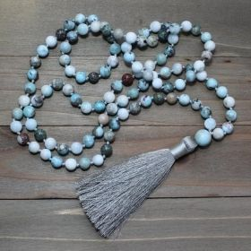 Light Blue Dominican Larimar Mala Prayer Beads